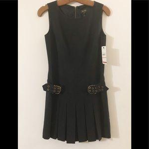 Laundry By Shelli Segal Dresses - NWT Little Black Dress drop waist buckles pleats